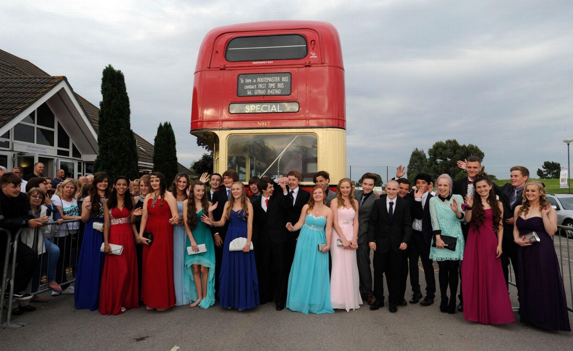 arrive in style double decker bus