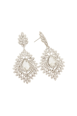 Adorne - Jewelled Teardrop Diamante Fan Edge Earring