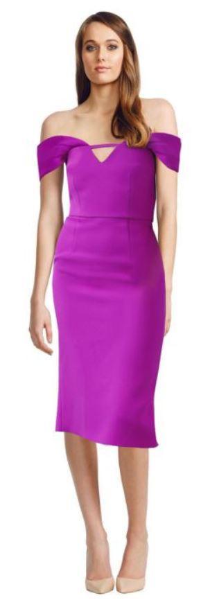 Yeojin Bae Corrine Dress Fuchsia