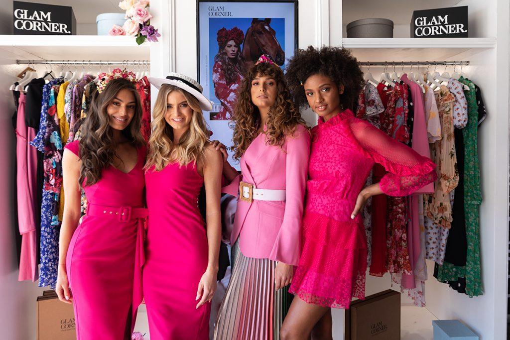 models-wearing-pink-dresses-glamcorner-melbourne-cup-dress-code