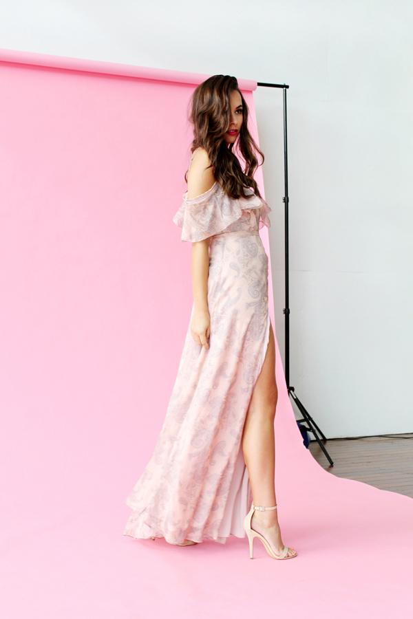 Monika Radulovic wearing our The JetSet Diaries Sublime Illusion Maxi Dress