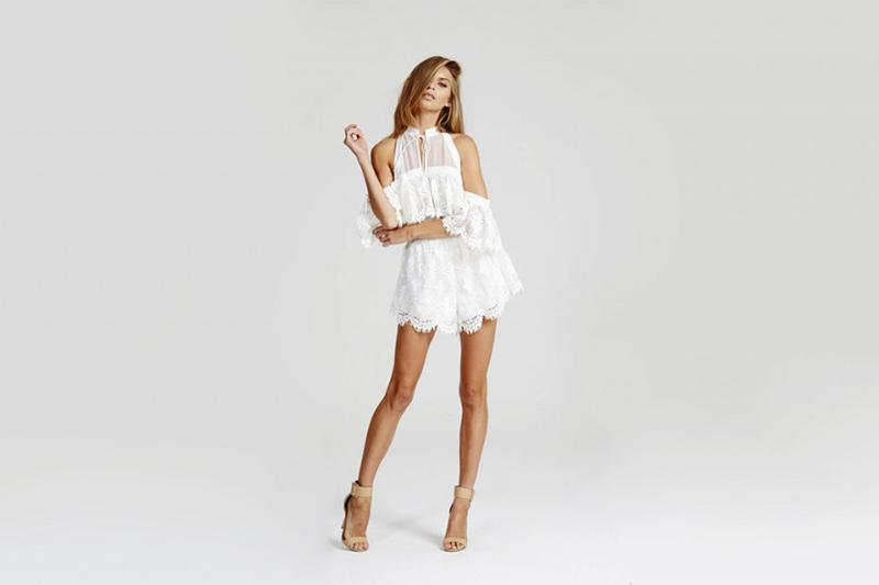 ALICE MCCALL WHITE JUMPSUIT LACE