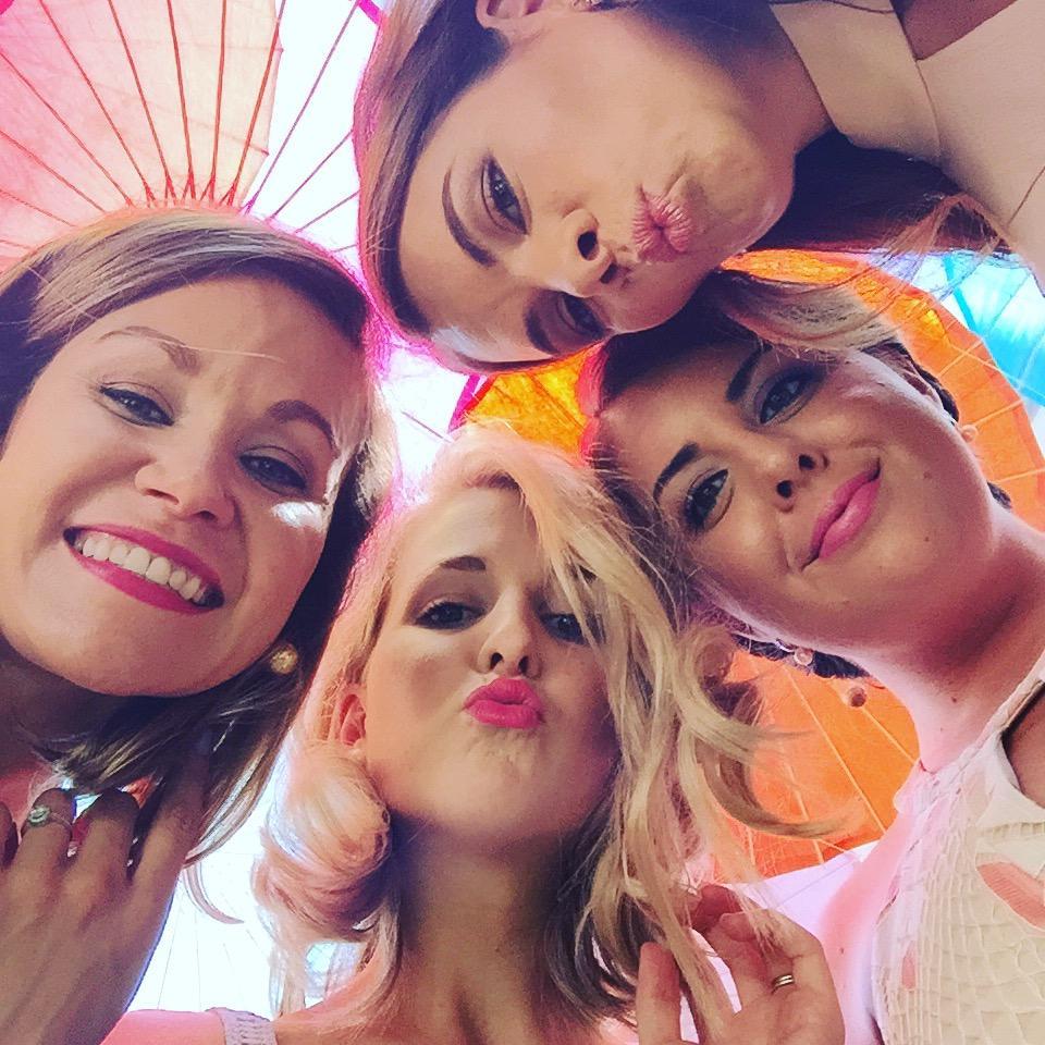Tarryn with her friends