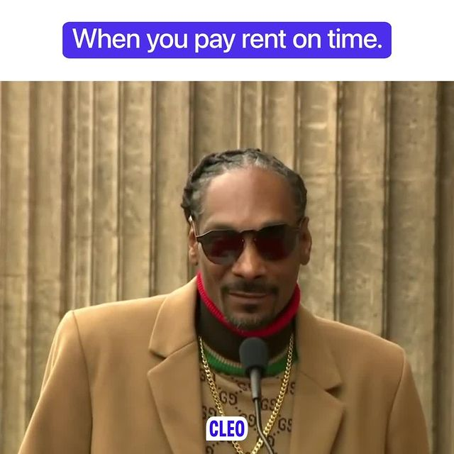 When you pay rent on time