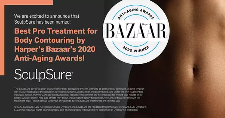 Harper's Bazaar endorsement of SculpSure as best body contouring / laser liposuction treatment