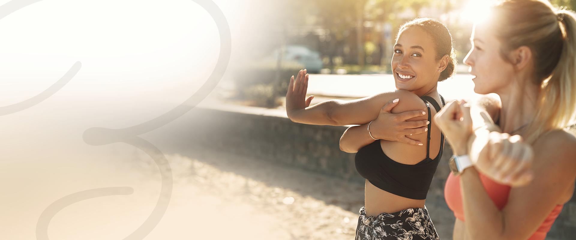 women with stretch-mark-free skin