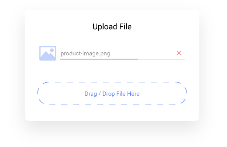 Products with personalization and file upload