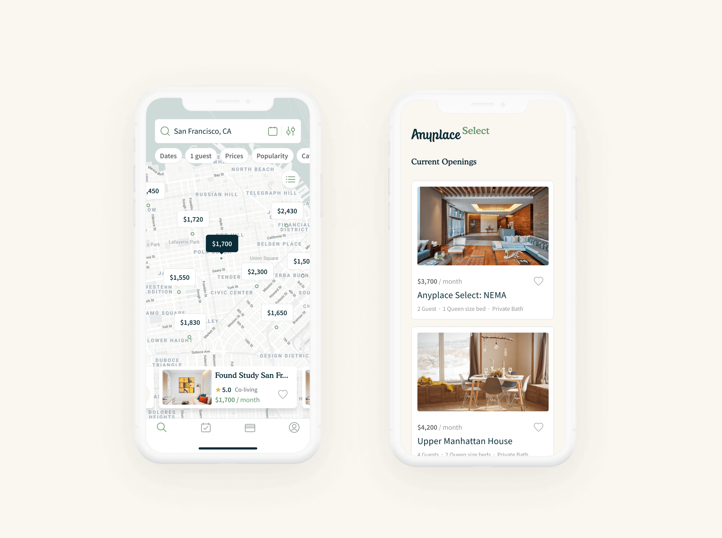 Anyplace app designed by zypsy design team