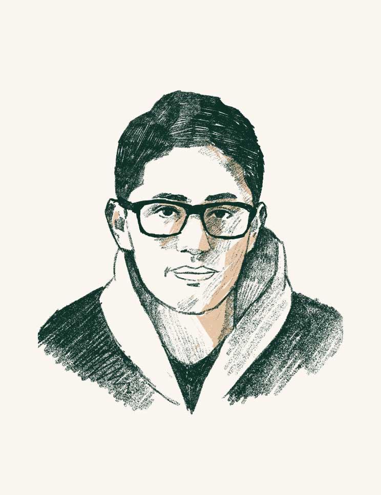 Satoru Steve Naito sketch illustration