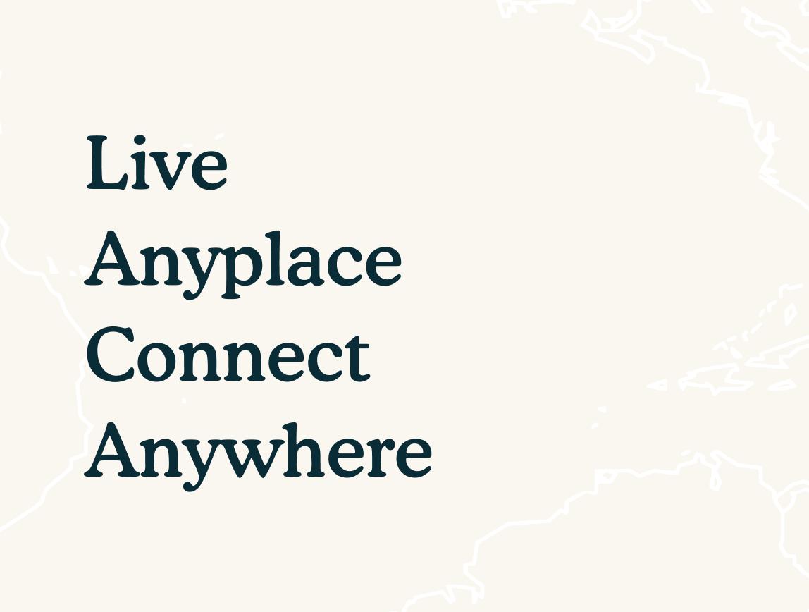 anyplace slogan