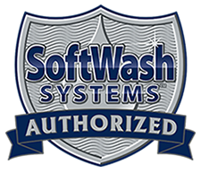A SoftWash systems authorized badge.