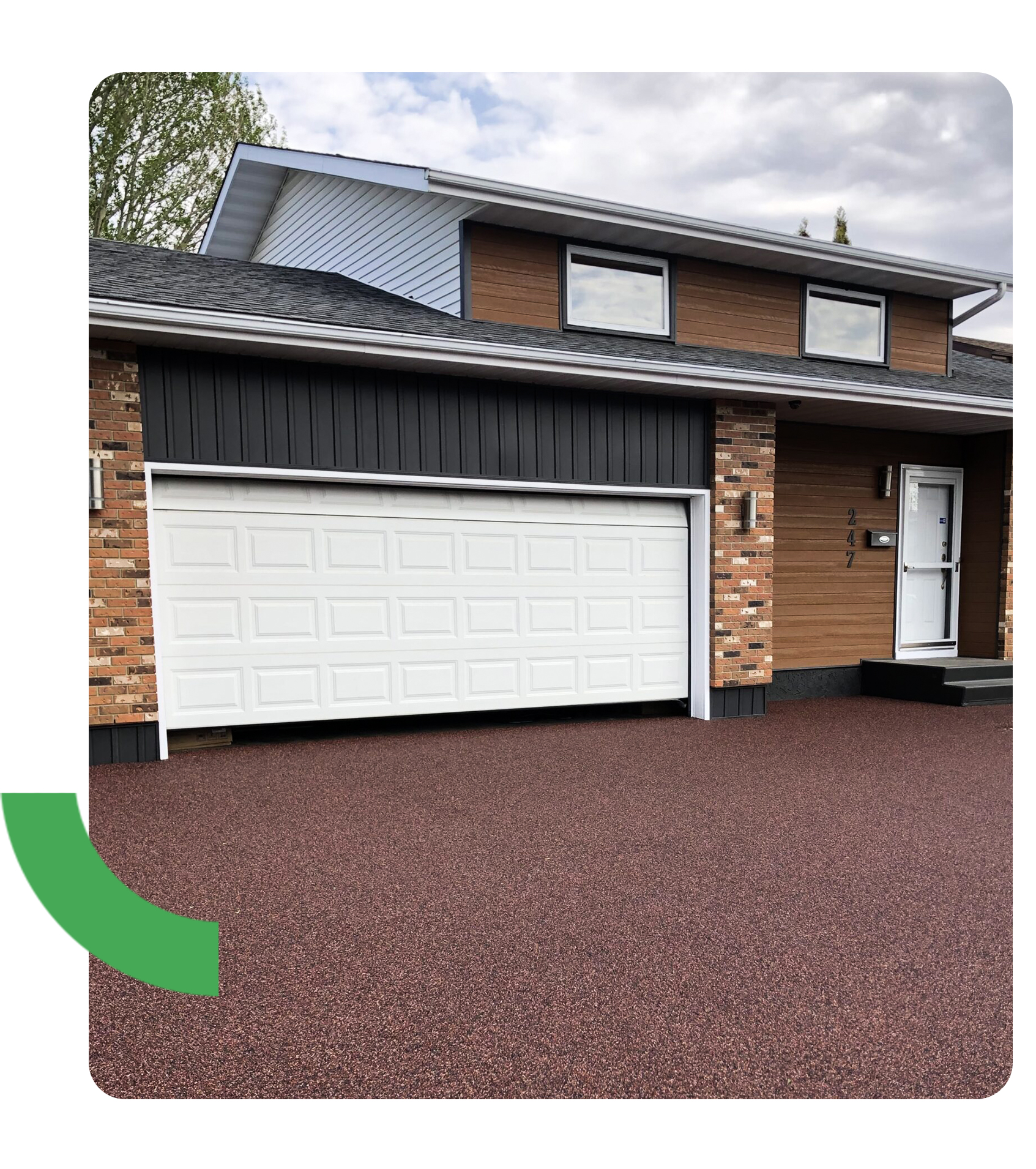 driveway with rubber paving