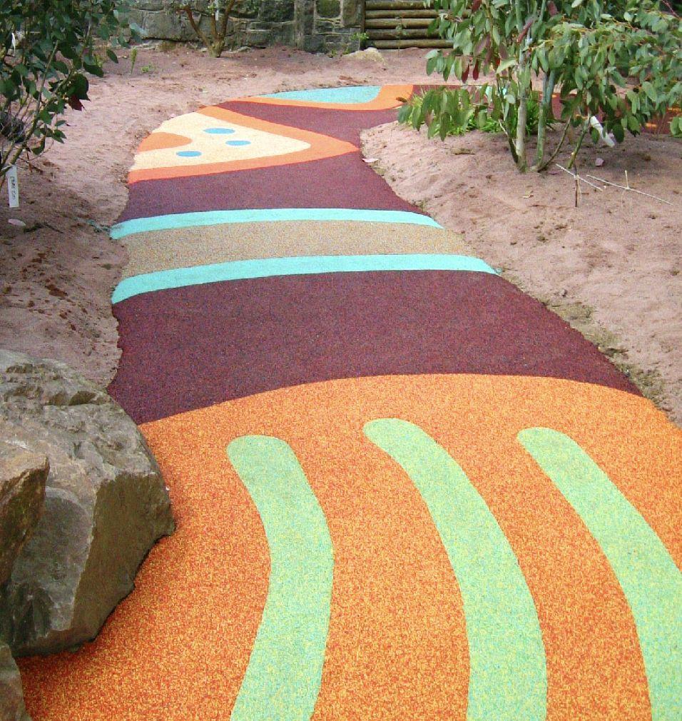 decorative walkway rubber