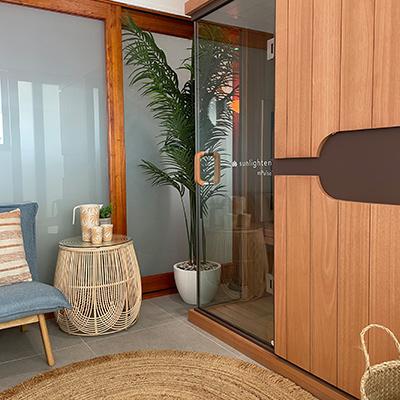 Sunlighten Infrared sauna room