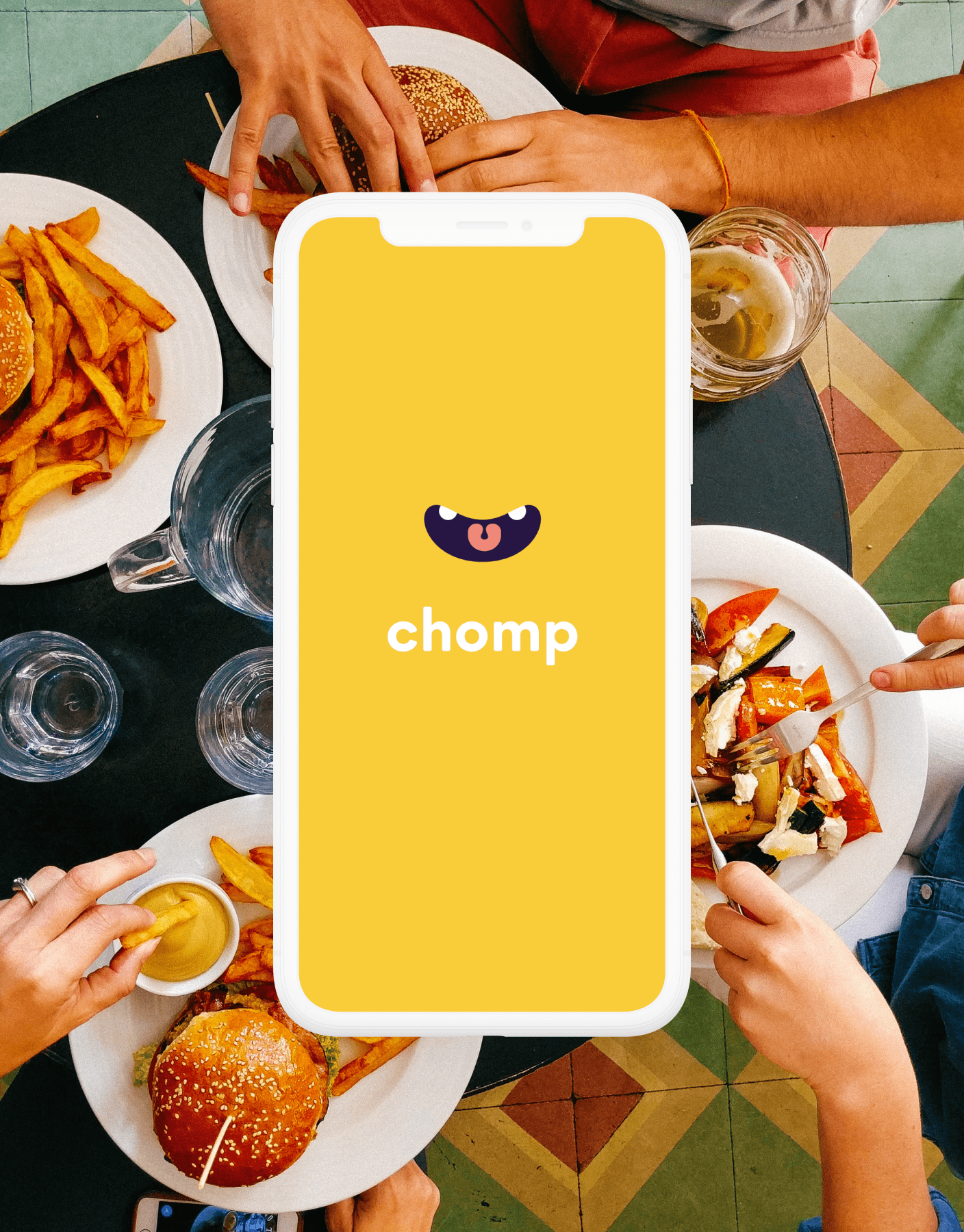 Chomp initial screen app