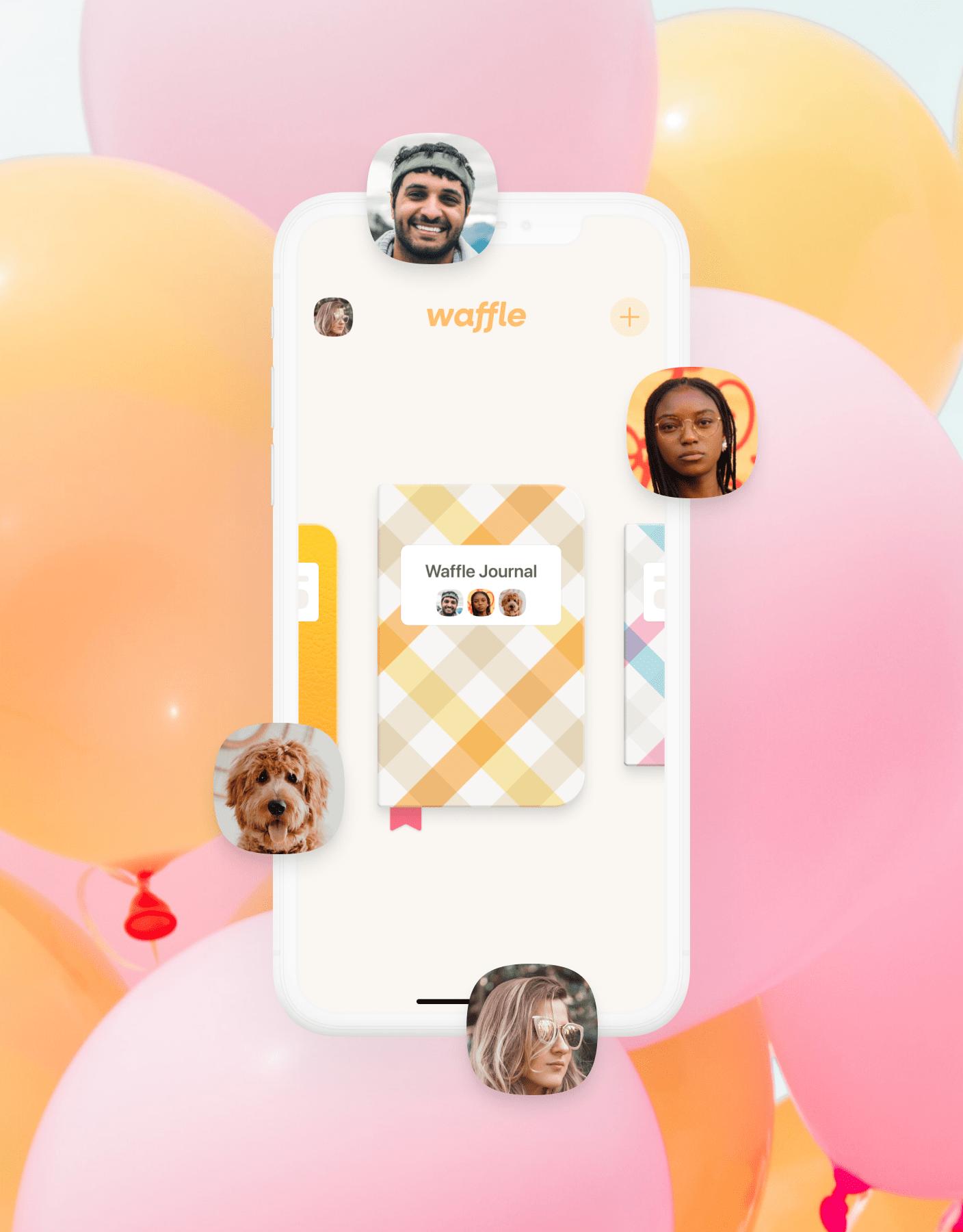 Waffle screen app designed by zypsy