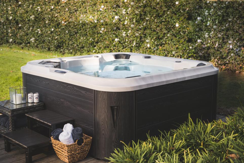 spa pool in backyard