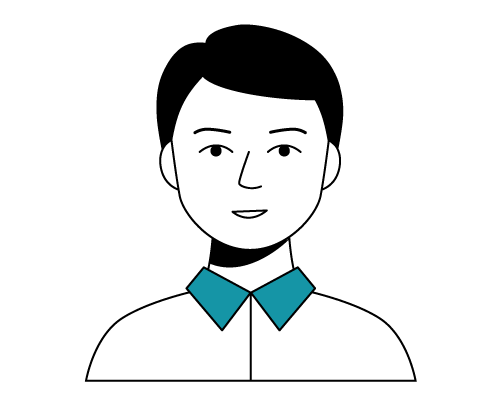 Illustration of Justin, Head of Compliance