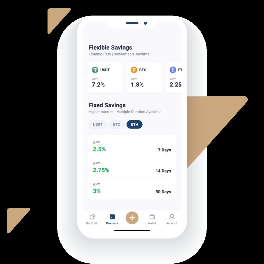 High return Flexible Savings and Fixed Savings on Ethereum (ETH)
