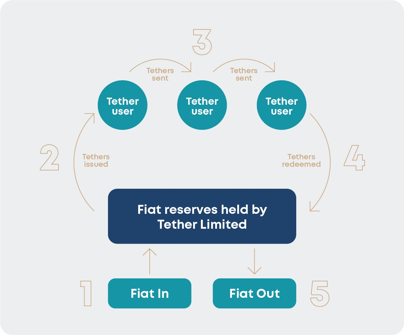 Tether's lifecycle diagram