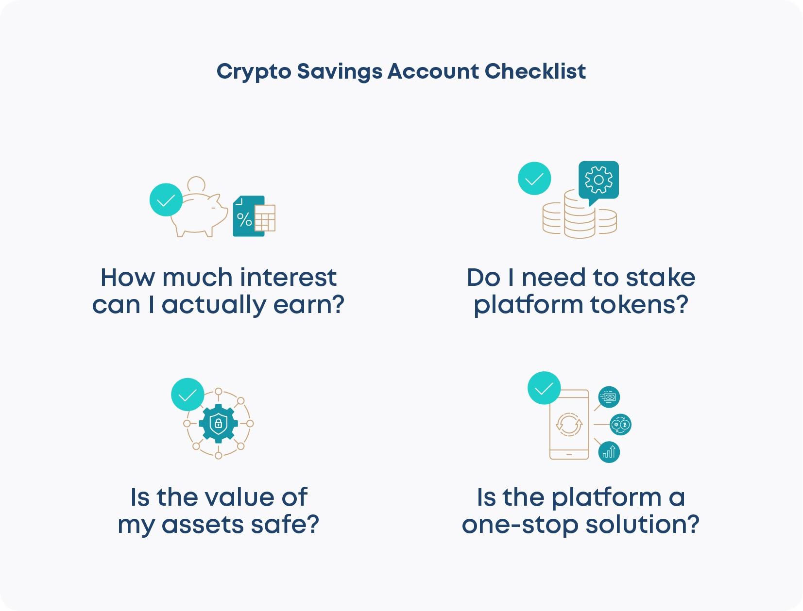 Crypto Savings Account Checklist