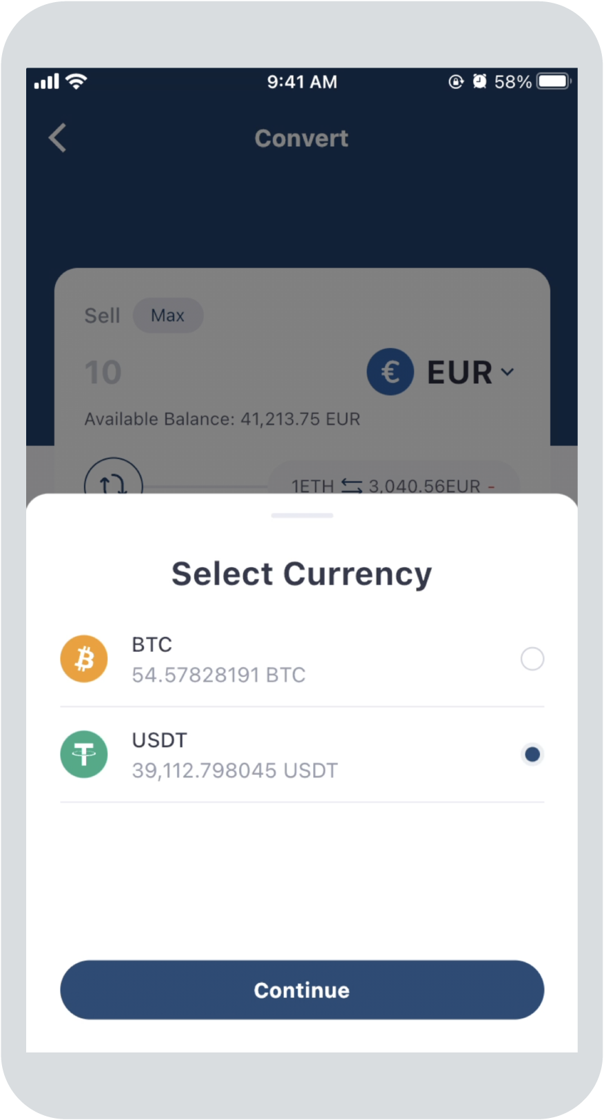 Step 1:Select Currency