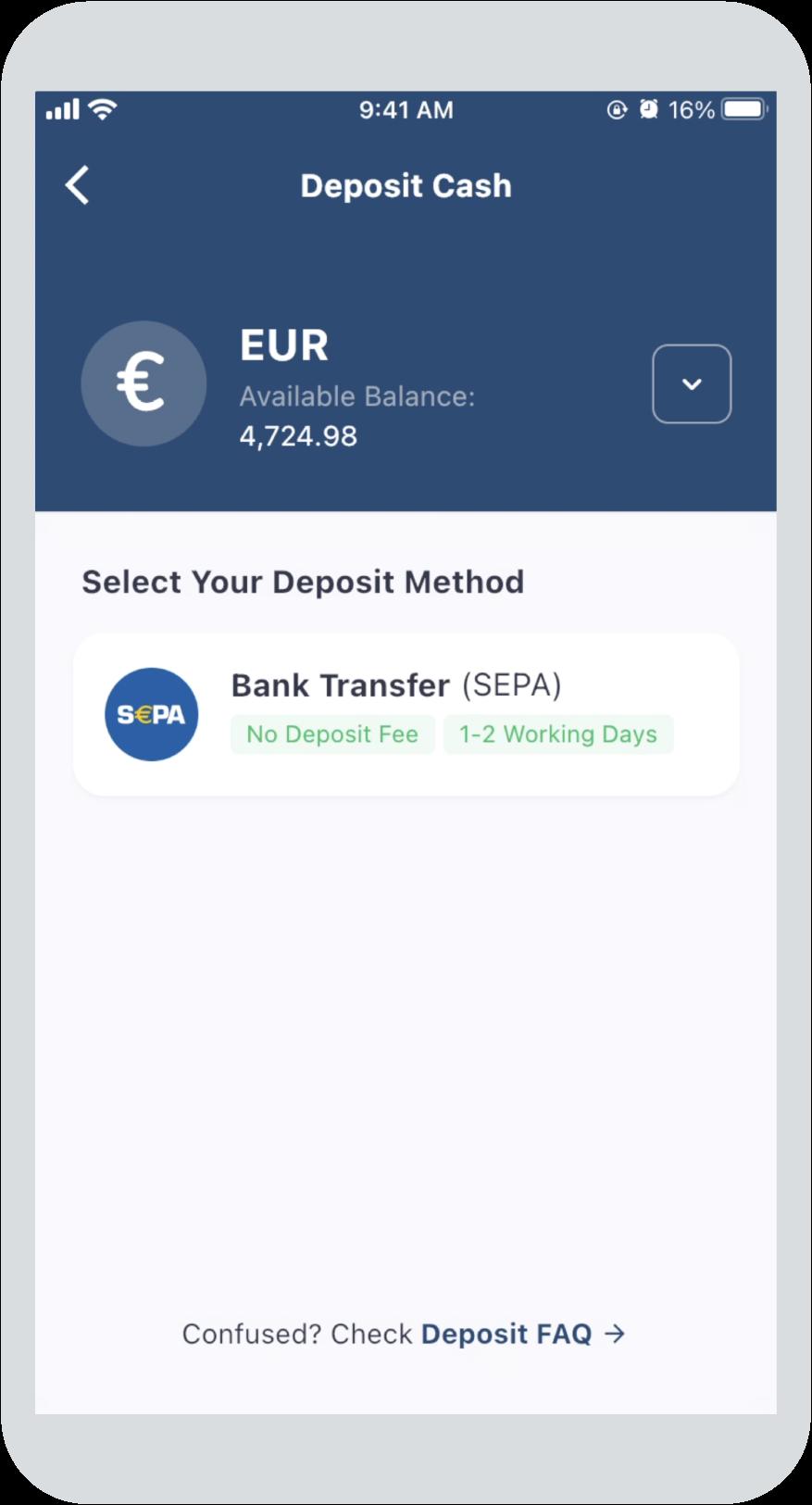 Step 2: Select Bank Transfer