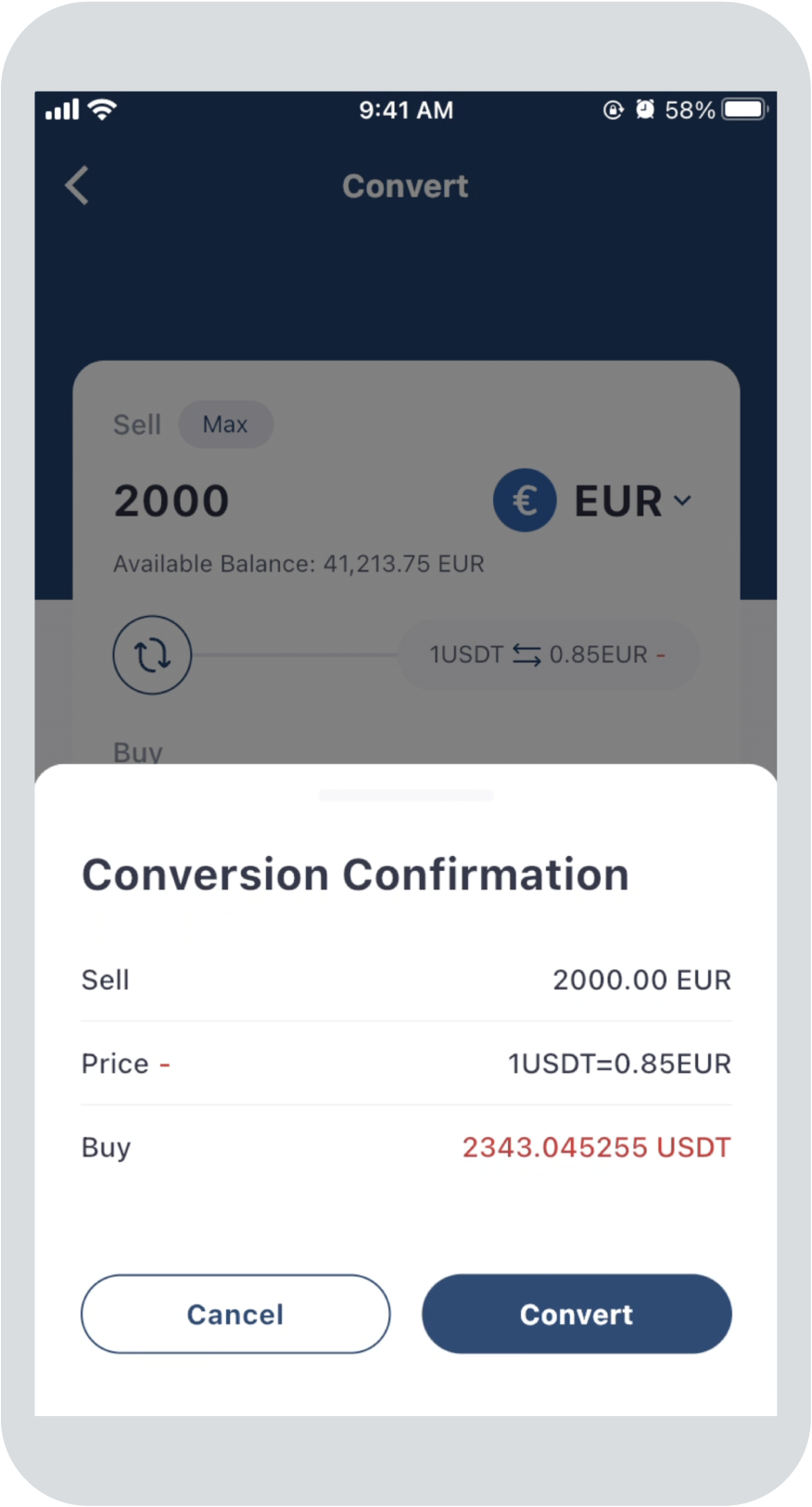 Step 2: Confirm currency conversion