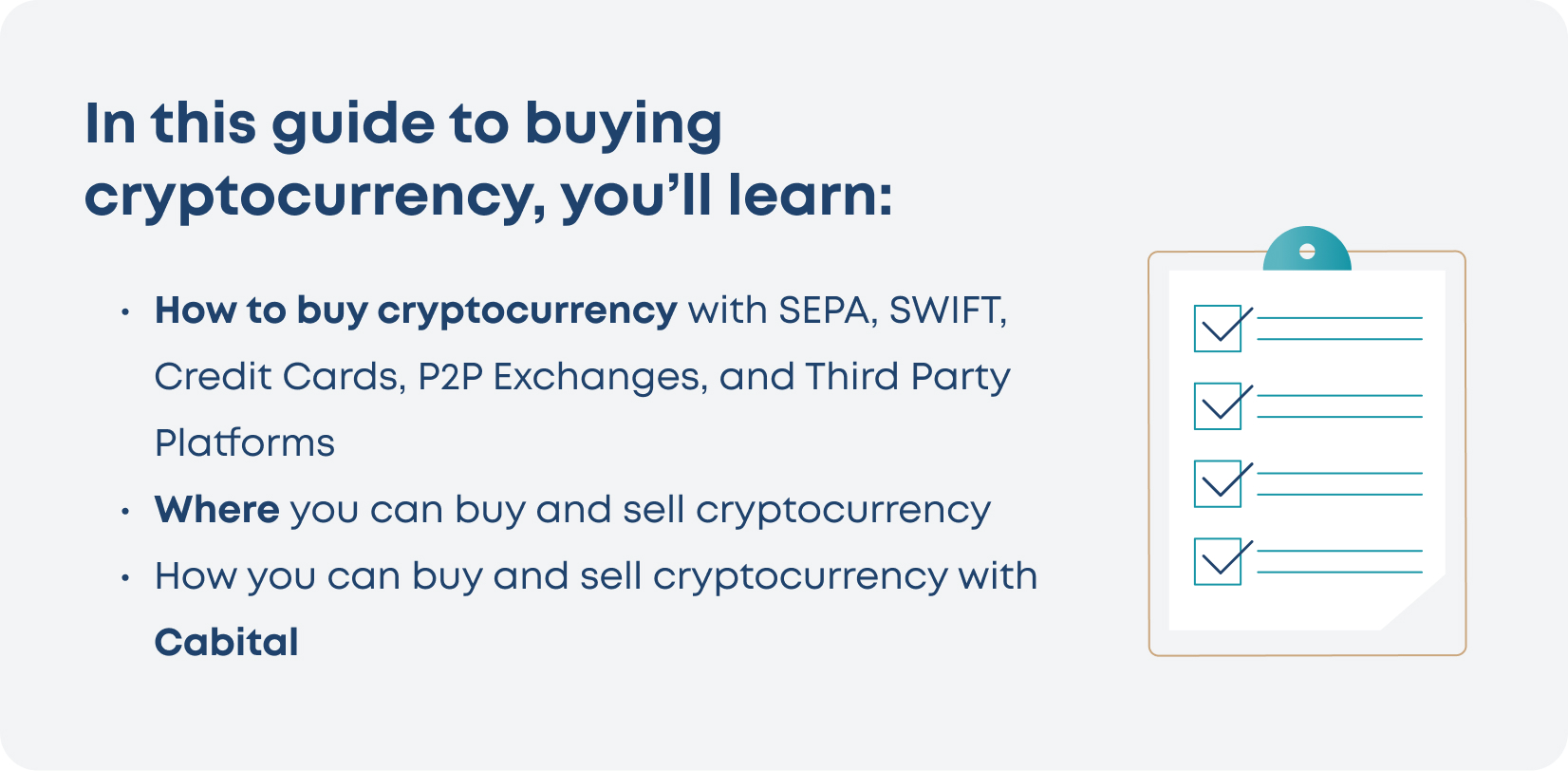 Summary of key points about buying crypto