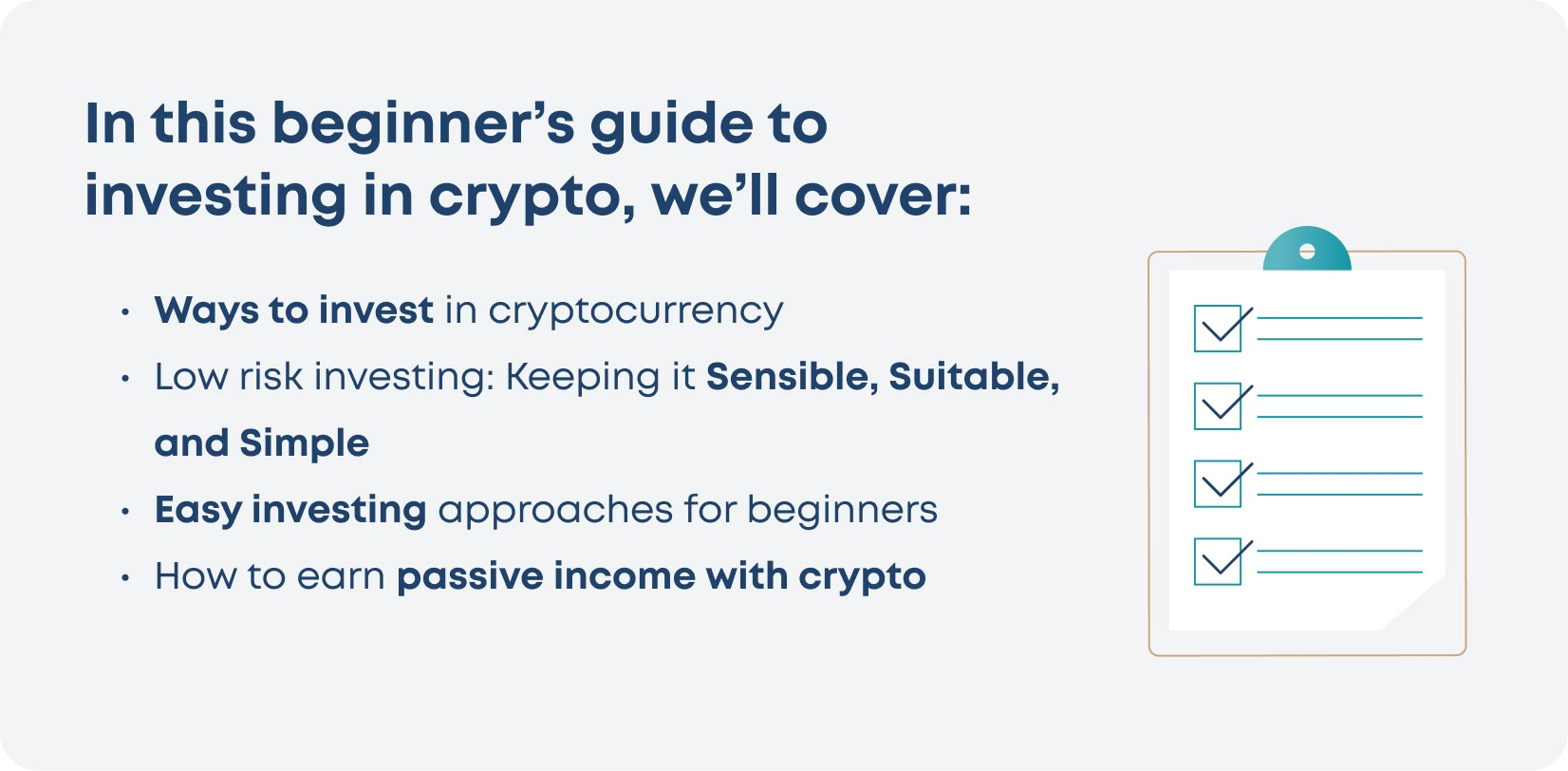 Learn how to invest in crypto easily