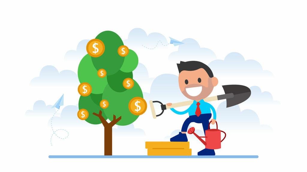 Човек, готов да обере плодовете на труда му, дошли под формата на пасивен доход