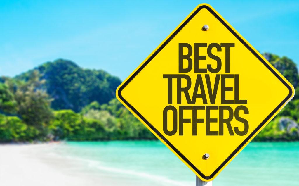 Табелка за най-добрите оферти за пътуване и респективно - за евтини самолетни билети