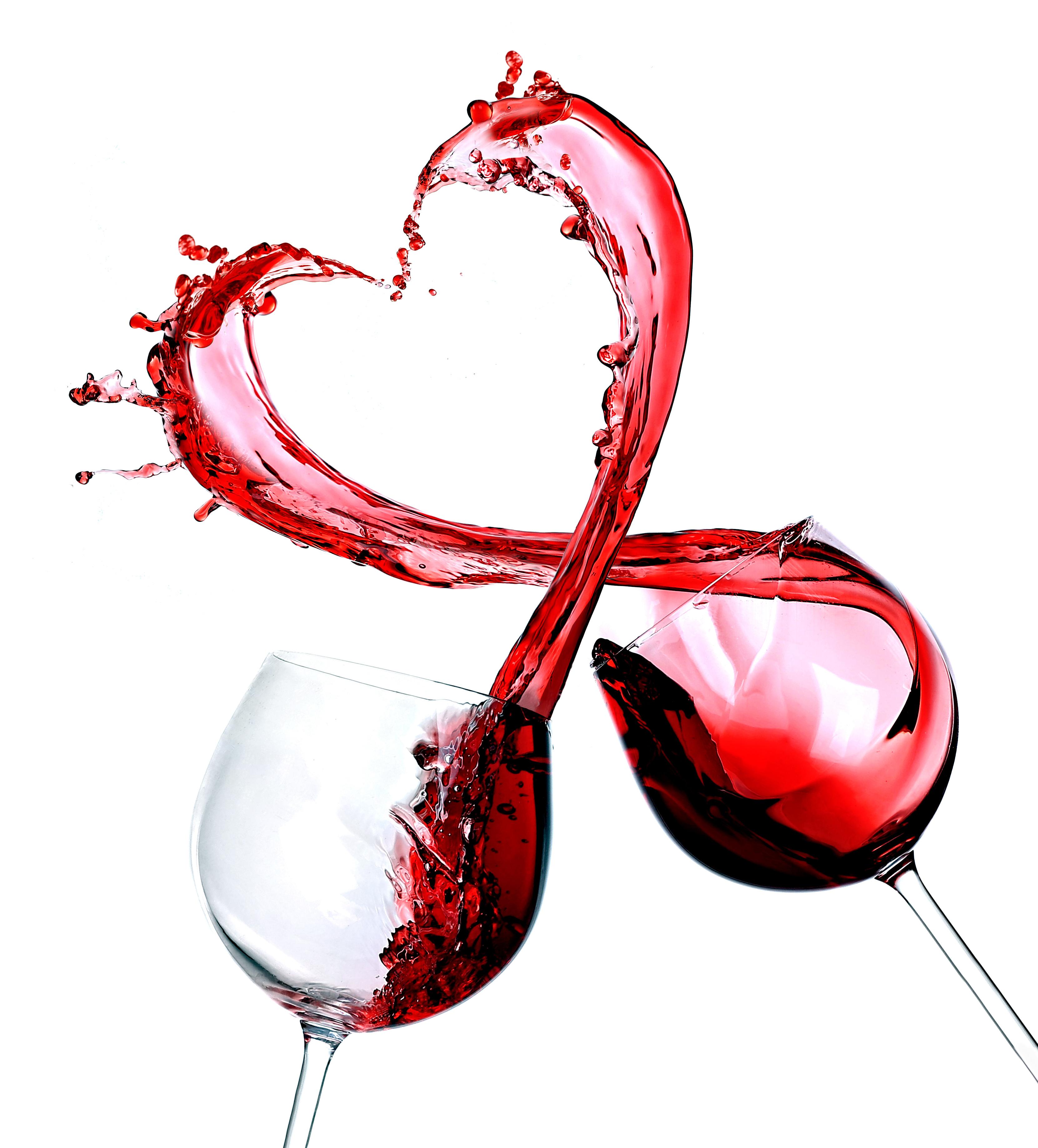 Две чаши червено вино по провод Трифон Зарезан