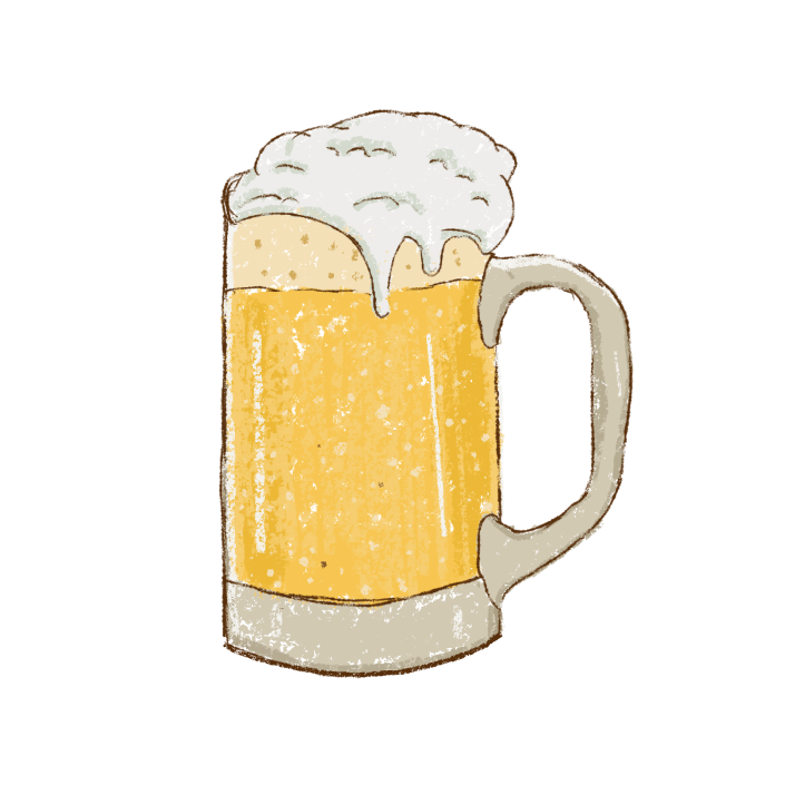 A sketch of a beer glass