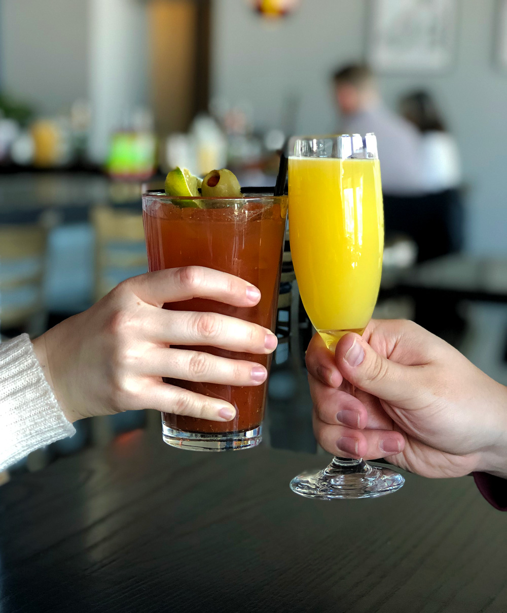 Brunch Cocktails, Pickle Bloody Mary & Bottomless Mimosa's