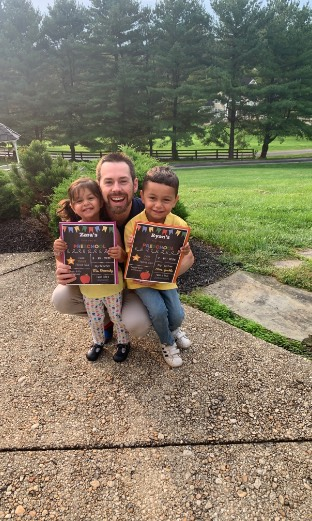 Photo of Dr. Ritter and his two kids