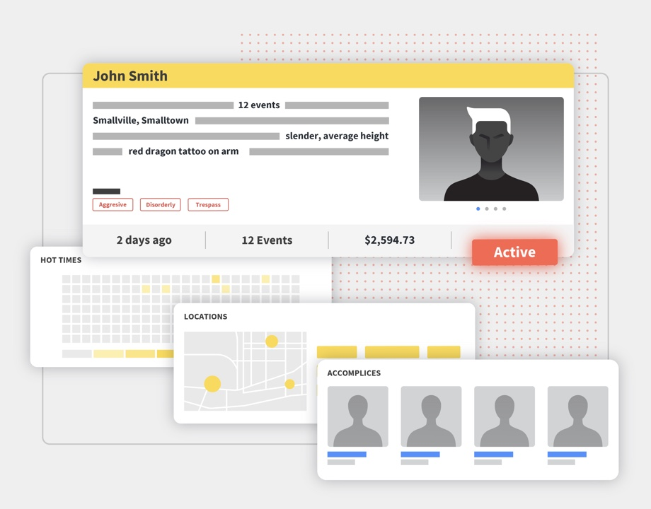 Auror allows you to view an offender profile, and connects criminal activity together for you.