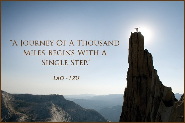 """A journey of a thousand miles..."""" -Lao Tzu (600x400) : QuotesPorn"""