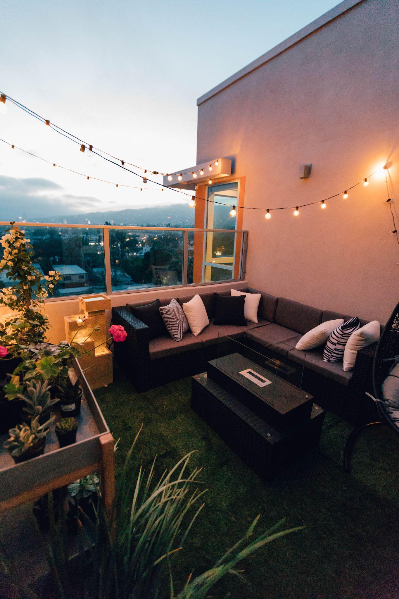 Áticos y terrazas con césped artificial