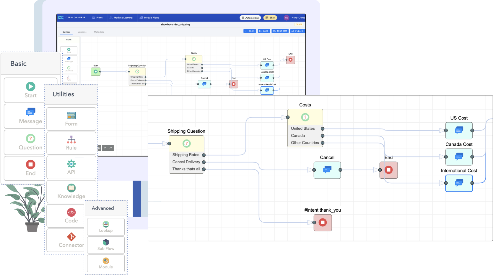 Flow-builder-DeepConverse-Chatbot
