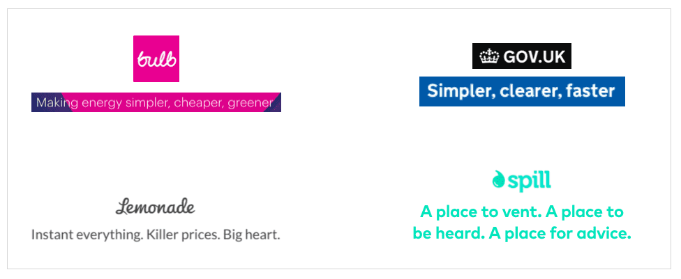 The rule of three brand copy examples