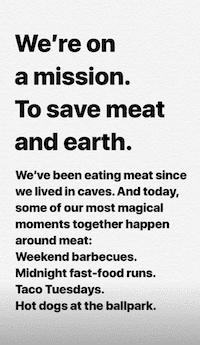 'Impossible foods mission statement'