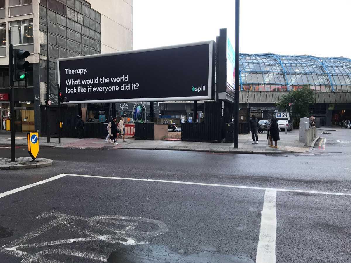 A Spill billboard