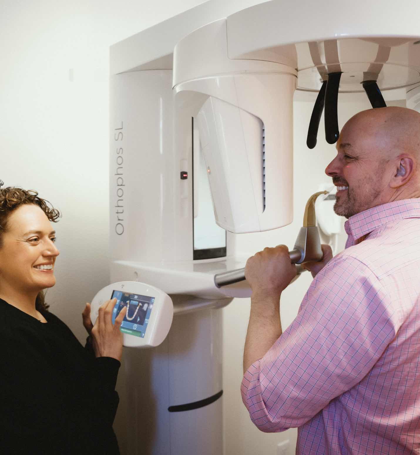 Photo of a patient getting a digital scan