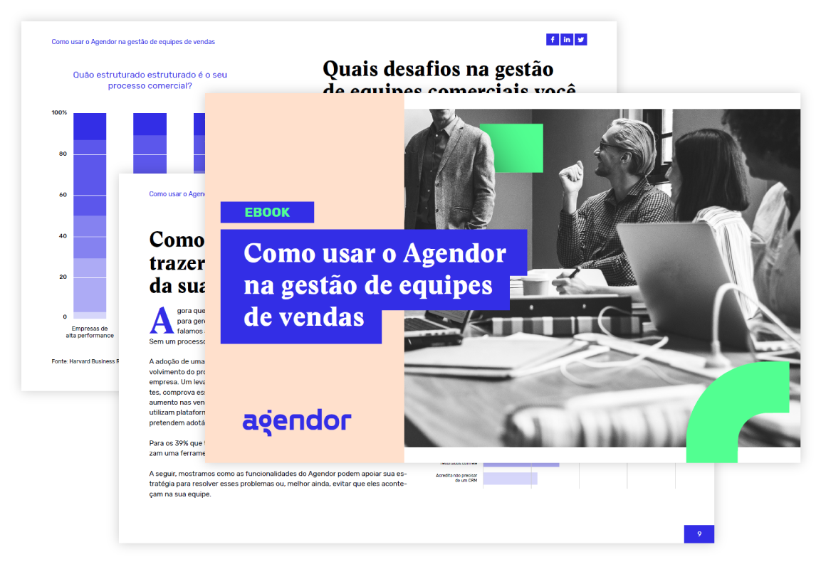 Ebook | Como usar o Agendor na gestão da equipe de vendas