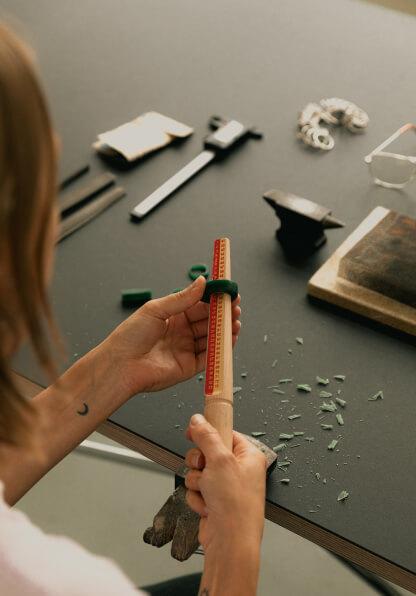 Artisan crafting a piece of furniture