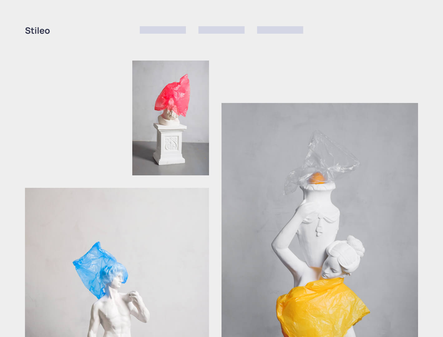 Browser mockup of an art pieces purchasing website