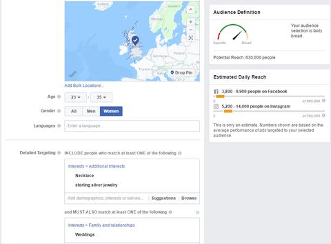 Screenshot of Facebook Ads Manager