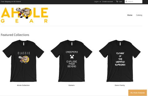 Screenshot of Ahold website and branding