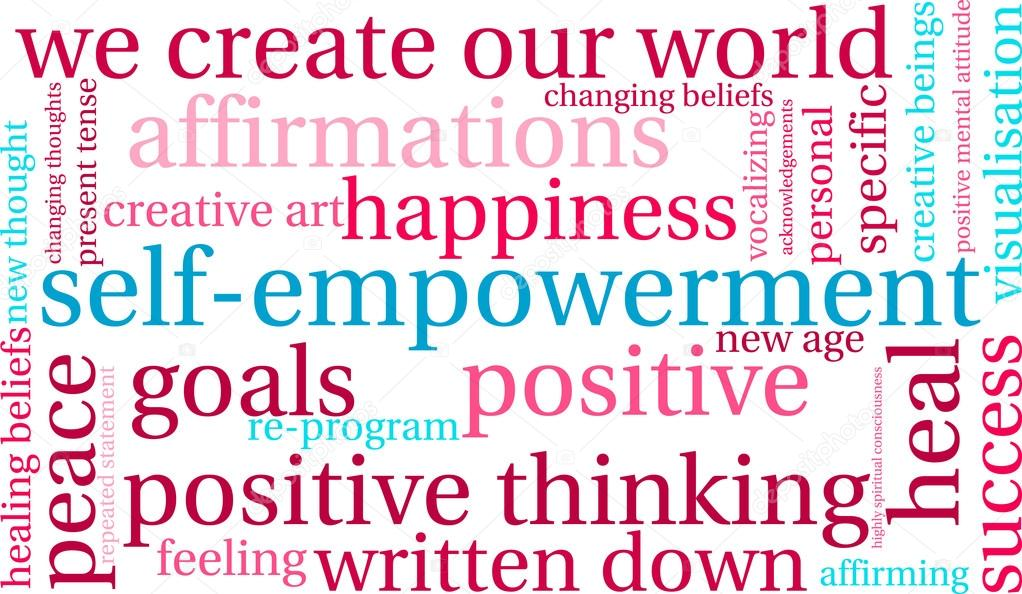 another self-empowerment word cloud